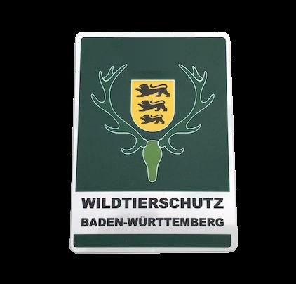 Autoschild Wildtierschutz Baden-Württemberg