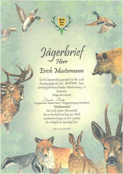 LJV Jägerbrief personalisiert