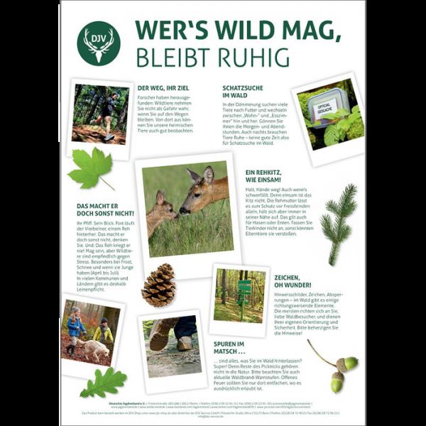 """Plakate """"Wer´s Wild mag bleibt ruhig"""""""